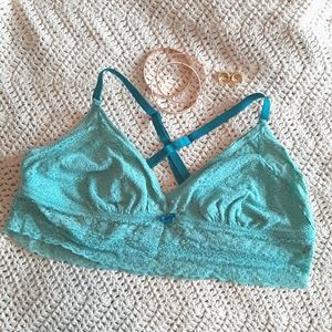 AERIE lace lightly lined crossback bralette XL